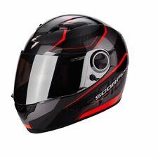 Scorpion casco de moto Exo-490 Vision Negro/rojo Neón talla m