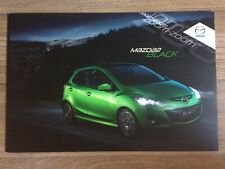 MAZDA 2 BLACK CAR BROCHURE. 2011 SPECIAL EDITION 1.3i 84ps DE 5 DOOR HATCHBACK