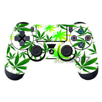 Green Leaf Vinyl Decal Skin Covers Stickers For Dualshock 4 PS4 Controller Hot