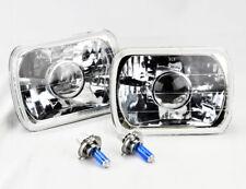 "7x6"" Halogen H4 Clear Glass Projector Headlight Conversion Pair RH LH Dodge"