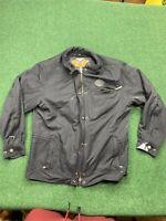 Men's Harley-Davidson Flame Nylon Black  Embroidered Jacket Size XL Womens