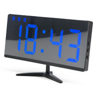 Digital LED Display Table Alarm Clock Snooze Thermometer Alarm Clock w/ Battery