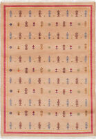 """Hand-knotted  Carpet 4'2"""" x 6'0"""" Peshawar Ziegler Traditional Wool Rug"""