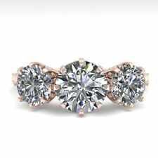 2 CTW Past Present Future Certified VS/SI Diamond Ring 18K Rose Gold... Lot 6619