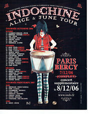 Publicité Advertising 127  2006  concert Indochine Alice & June Tour Paris Bercy