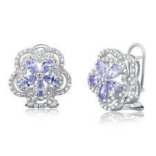 Leverback Sapphire Fashion Earrings