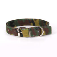 Dogs Collar Adjustable Pet Collars Army Green Canvas Pet Buckle Dog Accessories