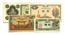 4 different Japan paper money 1940's WW2 era vf or better