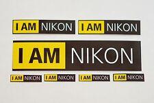 """I am NIKON 5.5"""" High quality Vinyl logo emblem custom print camera lens sticker"""