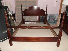 Thomasville Bed Frame Cherry Wood Queen Size Four Poster