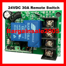 30A 24V DC Single Channel Remote Control Switch Universal Contact RSD24 H2 TLM1