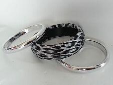 3 schöne Armreife Armreif Modeschmuck getigert + 2 x Silberfarben