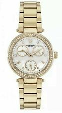 Women's Kenneth Cole Gold Tone Stainless Steel Chronograph Diamond Accent Watch