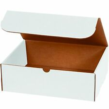 5x4x2 White Corrugated Shipping Mailers Packing Box Boxes Folding 100 To 1000