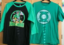 DC Comics Men's Shirts lot of 2 Green Lantern size L gently Used black and green