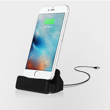 Desktop Charger Stand Dock Station Sync Charge Cradle For iPhone 5s 6 6s 7 Plus