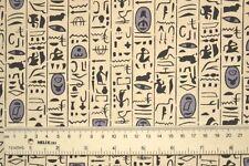 EGYPTIAN HIEROGLYPHICS Fabric Fat Quarter Cotton Craft Light Upholstery Symbols