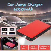 Portable Mini Slim 6000mAh Car Jump Starter Engine Battery Charger Power Bank