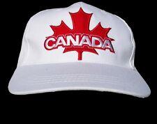 CANADA FLAG  WHITE TENNIS HAT BASEBALL CAP CANADIAN RED MAPLELEAF CASQUETTE