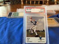 1961 Fleer Football # 167 Jack Lee, Houston Oilers PSA 9 Mint; BV $110, RARE !