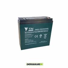 Batteria AGM Ermetica Deep Cycle 25Ah 12V Veicoli Bicicletta Tosaerba Elettrici