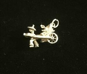 Solid Silver Vintage CHARM  : RIKSAW . Excellent (ref21)