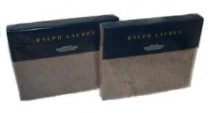 2 Ralph Lauren Great Compton Riverport Purple Wool Standard Shams NWT