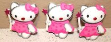 HELLO KITTY BIRTHDAY PARTY SUPPLY OR DECORATION FOAM FIGURES 10 PACK