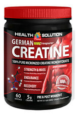 German Creapure® Creatine 100% Pure Micronized Monohydrate Powder 300g (1 Can)