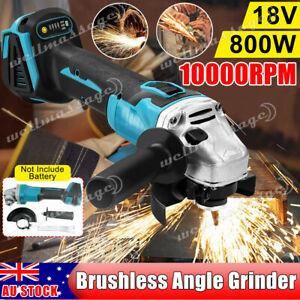 Cordless Brushless Angle Grinder 125mm Replace For Makita 18V Battery NO Battery