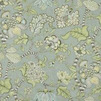 CLARICE DOVE P Kaufmann Linen Drapery Upholstery Floral Jacobean Print Fabric