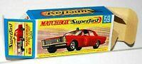 Matchbox Superfast No 59 FIRE CHIEFS CAR Repro G style Empty Box