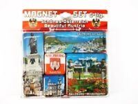 Salzburg Salzach Dom Fiaker .. ,Österreich Magnet Set Souvenir,6 tlg.,Neu