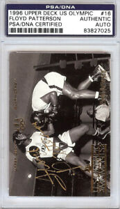 Floyd Patterson Autographed 1996 Upper Deck US Olympic Card #16 PSA/DNA 83827025