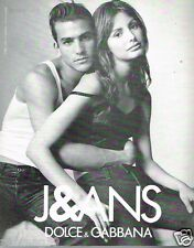 Publicité advertising 1997 Pret à porter vetement jeans Dolce & Gabbana