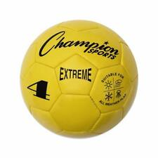 Champion Sports Extreme Soft Touch Butyl Bladder Soccer Ball, Size 4, Yellow