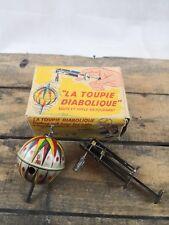 Toupie MONT BLANC LA DIABOLIQUE/lanceur boite d'origine jouet ancien/collection