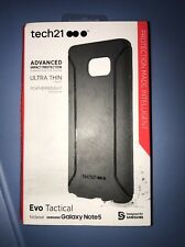 Tech21 Evo Tactical Slim Thin Case Cover For Samsung Galaxy Note 5 Matte Black