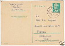Ganzsache, Postkarte, DDR Mi.-Nr. P68, o Zahna, 24.10.58
