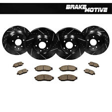 F+R Black Drilled Slotted Brake Rotors & Ceramic Pads Kit Fits: Infiniti Nissan