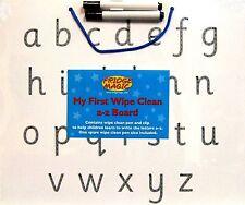Wipe Clean White Board Alphabet Learn to Write Lower Case Letters a - z Dry Wipe