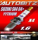 FITS SUZUKI SX4 1.6 VVT 2006> BRISK SPARK PLUGS X4 YYTRIUM FAST DISPATCH
