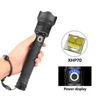 LUMENS XHP MOST POWERFUL FLASHLIGHT USB TORCH HUNTING LAMP HAND LIGH Quality