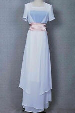Titanic Cosplay Rose Costume Tailed Dress Women Graceful Gown Halloween Party AA