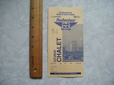 1994 Grand Prix Of Cleveland Indy Car Ticket Vip Chalet