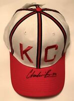 Chadwick Boseman signed KC Monarchs Hat jackie robinson 42 movie beckett loa
