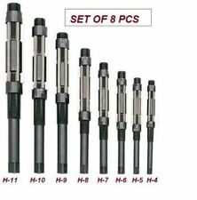ADJUSTABLE HAND REAMER SET OF 8 PCS H4 TO H11 SIZE: 15/32 TO 1.1/16""