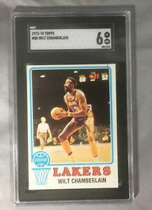 1973-74 Topps 80 Wilt Chamberlain Los Angeles Lakers Hof Card Sgc 6 Ex-Nm