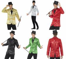 7de7744d76a61 ADULT MALE MENS DISCO DANCE JAZZ SEQUIN COSTUME JACKET BLAZER CABARET  CHAPLIN