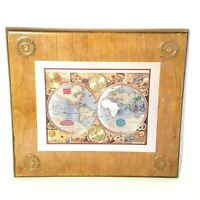 Handcrafted Nautical Wall Plaque Art A new and Accvrat Map of the World 1626